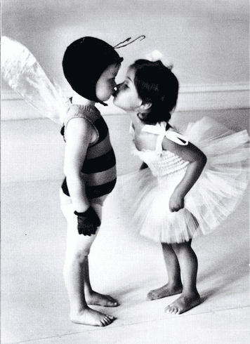 Kids Kissing In Costume