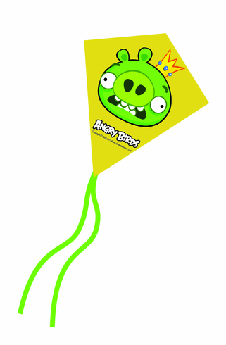 King Pig Angry Birds Mini Poly Diamond Kite 7.5""