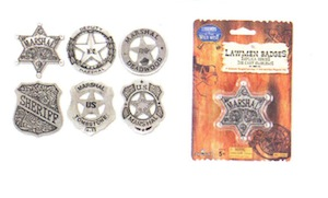 Law Men Badges Die Cast Emblems