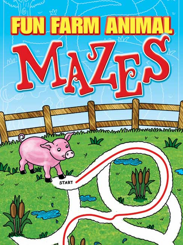 LG Activity Book: Fun Farm Animal Mazes