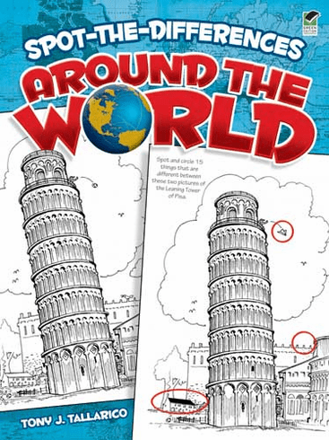 LG Coloring Book: Spot the Differences Around the World