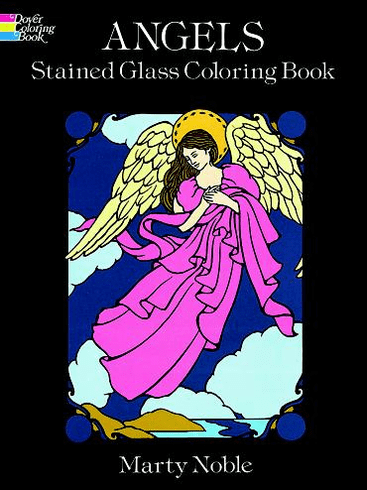 LG Stained Glass Coloring Book: Angels