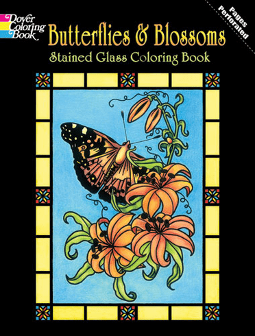 LG Stained Glass Coloring Book: Butterflies & Blossoms