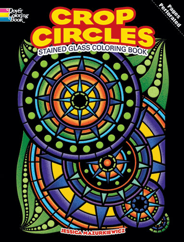LG Stained Glass Coloring Book: Crop Circles