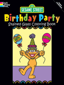 LG Stained Glass Coloring Book: Sesame Street Birthday Party