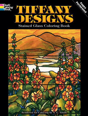 LG Stained Glass Coloring Book: Tiffany Designs