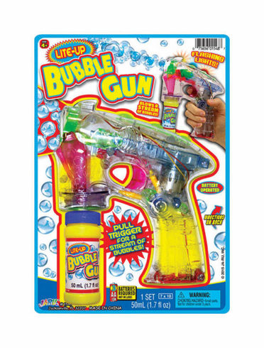 Light-Up Bubble Gun