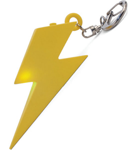 Lightning Bolt LED Key Chain
