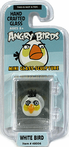 Looking Glass Angry Bird White