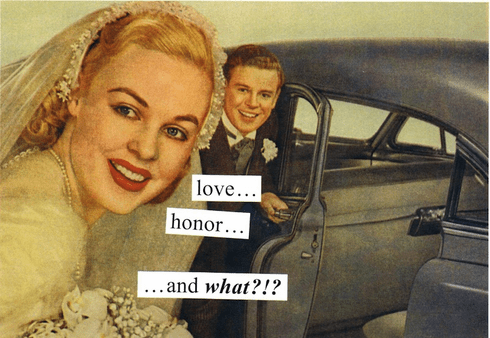 Love. . . Honor. . . and What?