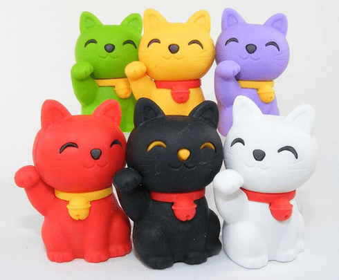 Lucky Cat Erasers