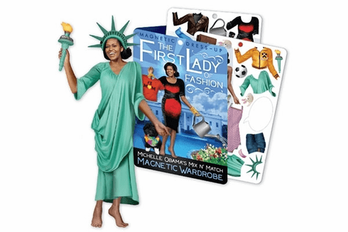 Magnetic Dress-Up: Michelle Obama