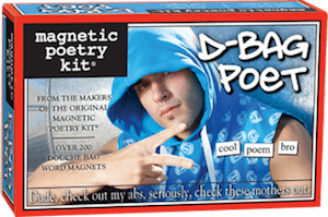 Magnetic Poetry Kit: D-Bag Poet