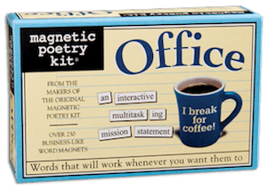 Magnetic Poetry Kit: Office Kit