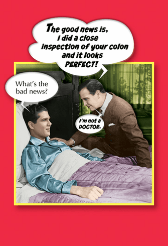 "Man on Sick Bed with ""Doctor"""
