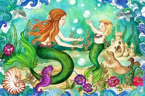 Mermaid Playground Floor Puzzle 48pc