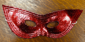 Metallic Harlequin Eyemask Red