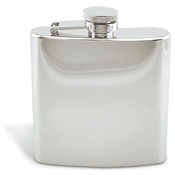Mirror Finish Rimless 6oz Flask