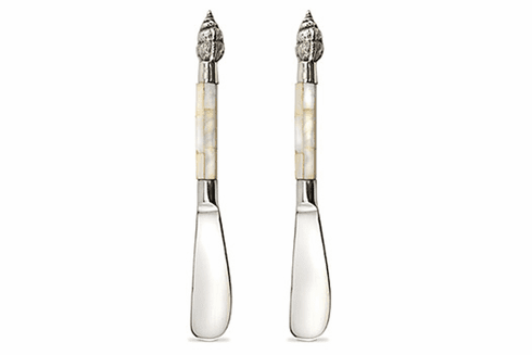 Mother of Pearl Cheese Spreader 2pc Set