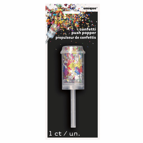 Multi-Color Confetti Push-Popper