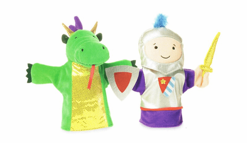 Mythical Mates Knight Dragon Puppet Set