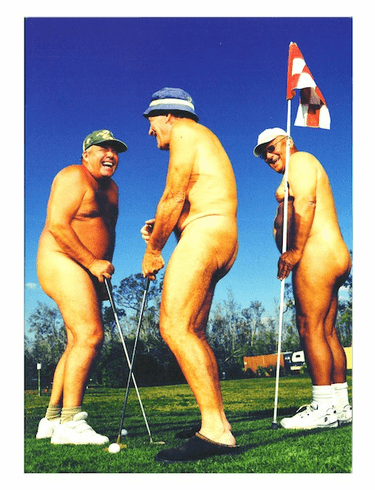 Naked Old Golfers