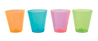 Neon Shot Glasses (Set of 60)