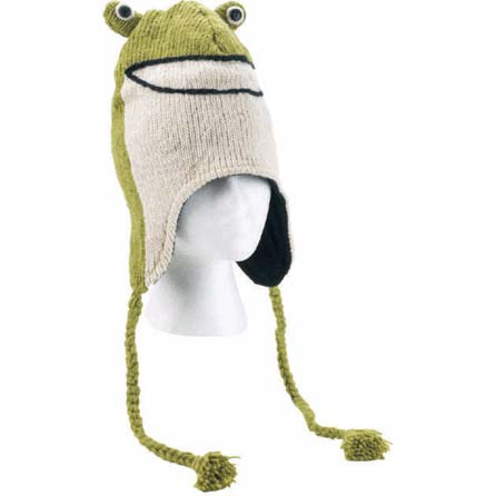 Nepali Wool Adult Frog Hat