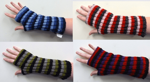 Nepali Wool Striped Arm Warmers