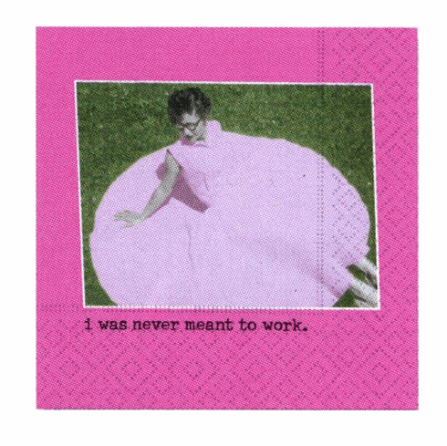 Never Meant to Work Beverage Napkins