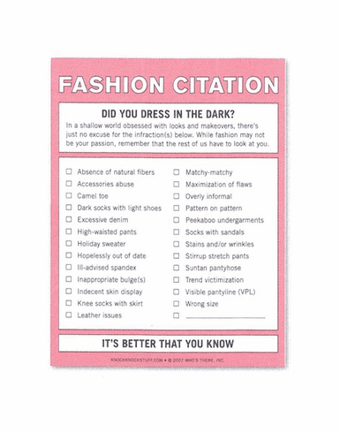 Nifty Notes - Fashion Citation