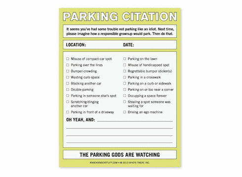 Nifty Notes - Parking Citation