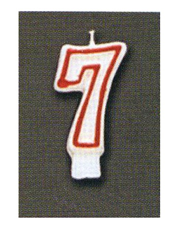 Number Candle - Seven