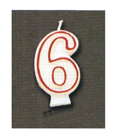 Number Candle - Six