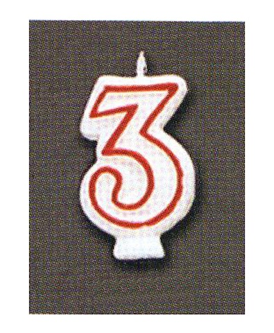 Number Candle - Three