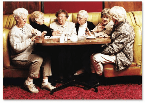 Old Ladies in a Booth