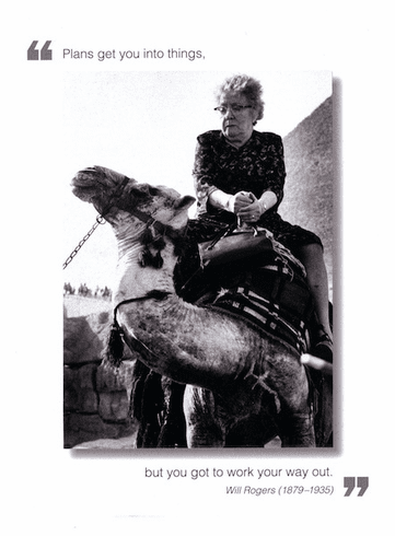 Old woman on camel