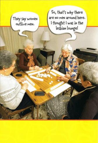 Old Women Playing Game