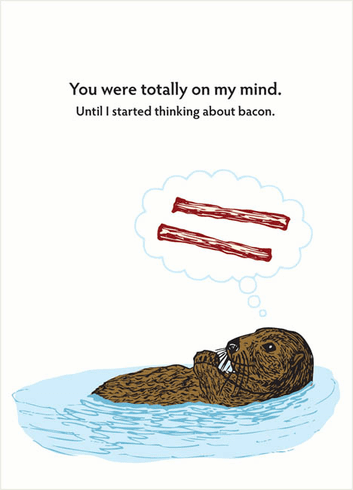 Otter Thinking About Bacon