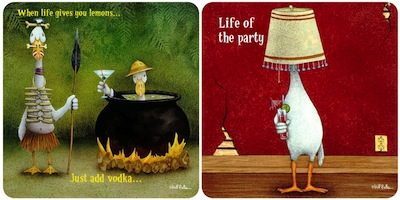 Party On! Duck Coasters