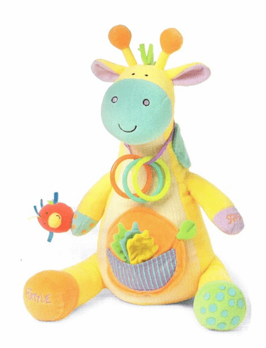 Peek Squeak Giraffe Plush Activity Toy