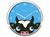 Peekaboo Cow Wall Clock