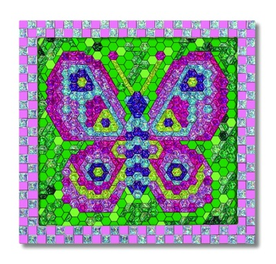 Peel & Press Mosaics Butterfly