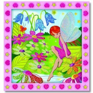 Peel & Press Sticker by Number Flower Garden Fairy