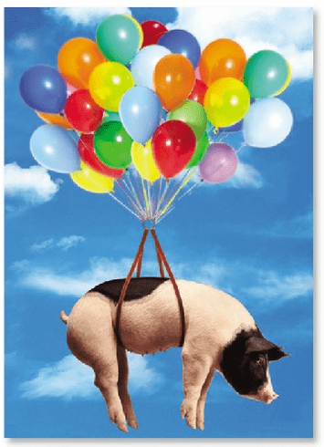 Pig Fly with Balloons