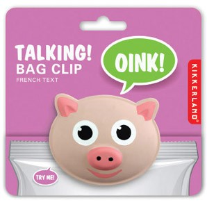 Pig Talking Bag Clip