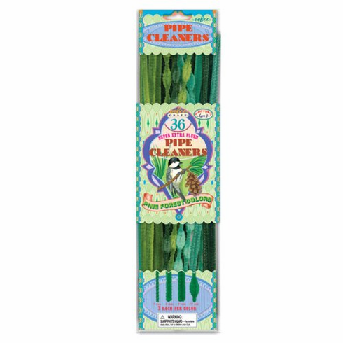 Pine Tree Colors Pipe Cleaners