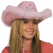 Pink Light Up Cow Girl Hat