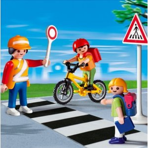 Playmobil 4328 School Crossing Guard with Kid