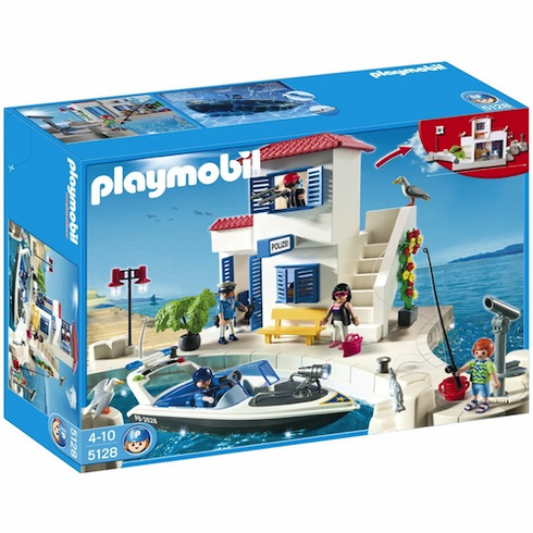 Playmobil 5128 Harbour Police With Speedboat